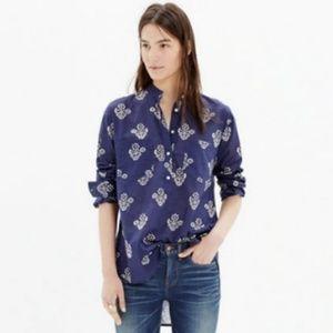 Madewell Flowerstamp tunic top XXS (FITS LIKE S)